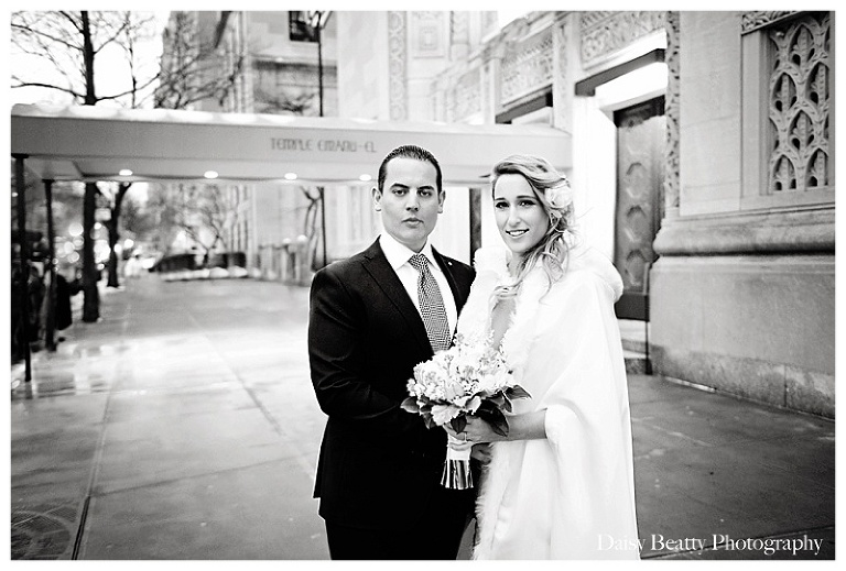 black and white wedding portrait nyc