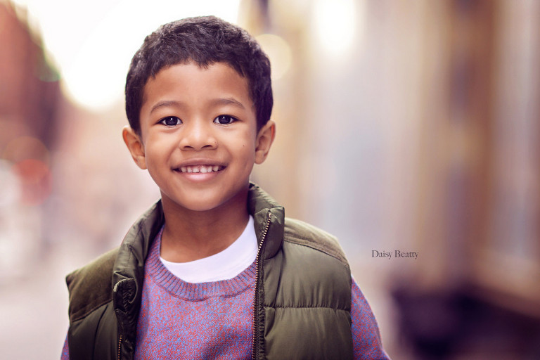 professional headshot of a child model in nyc by daisy beatty photography