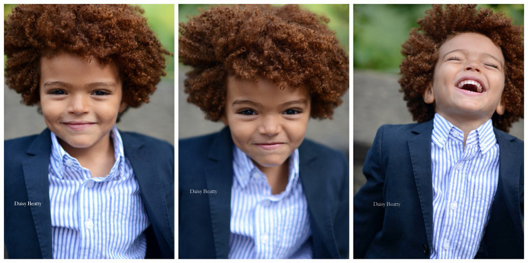 headshot of child model aiden j garcia in nyc by daisy beatty photography