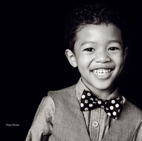 classic black and white child portrait studio nyc by daisy beatty photography