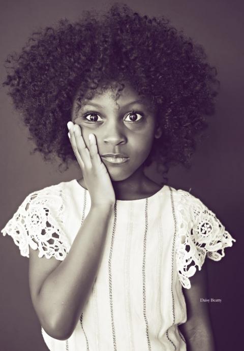 child model headshot in manhattan by nyc child photographer daisy beatty
