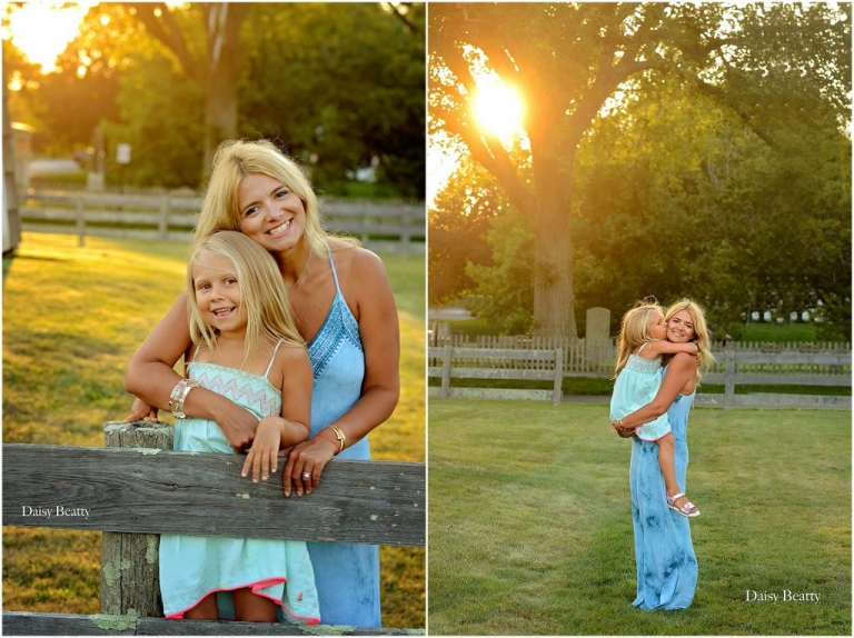 portraits of a mother and her daughter in east hampton village by daisy beatty photography