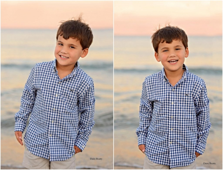 portraits of a boy at sunset in greenwich ct by nyc family photographer daisy beatty