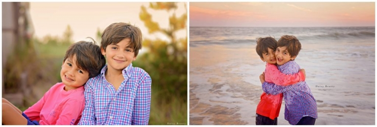 manhattan family portrait photography of two brothers at sunset by daisy beatty