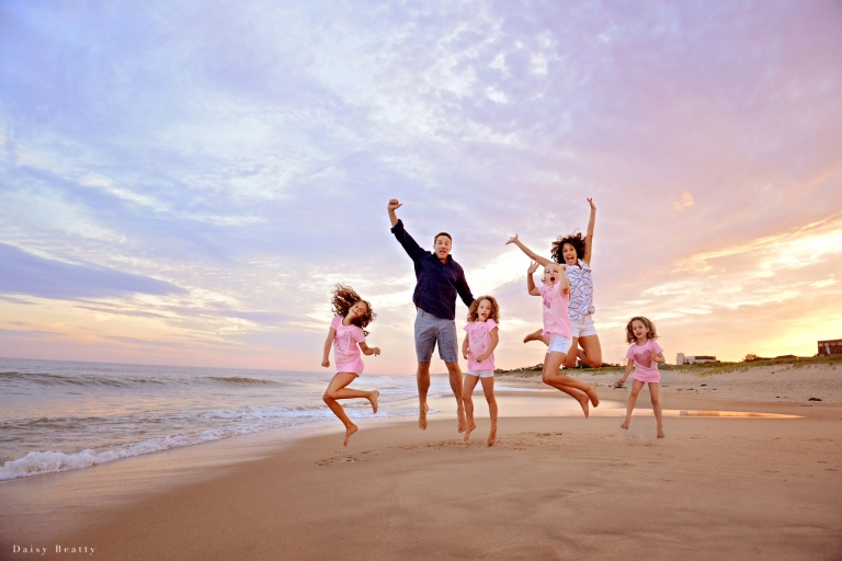 family portrait at the beach in east hampton ny by hamptons photographer daisy beatty