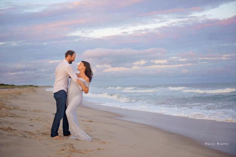 Long Island maternity photographer daisy Beatty sunset in the Hamptons New York
