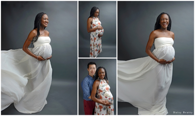pregnancy photography in an nyc maternity portrait studio