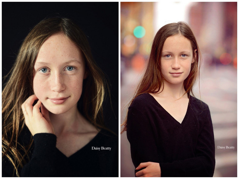 headshots of a young girl in nyc by daisy beatty photography