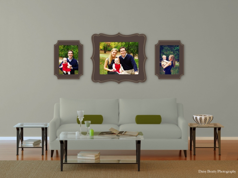 organic bloom frames in a living room example