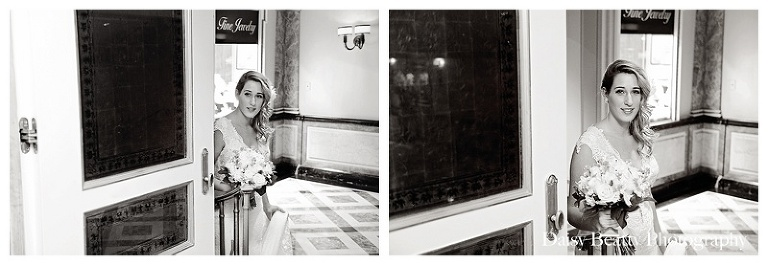 bride waits to see the groom at the pierre hotel wedding
