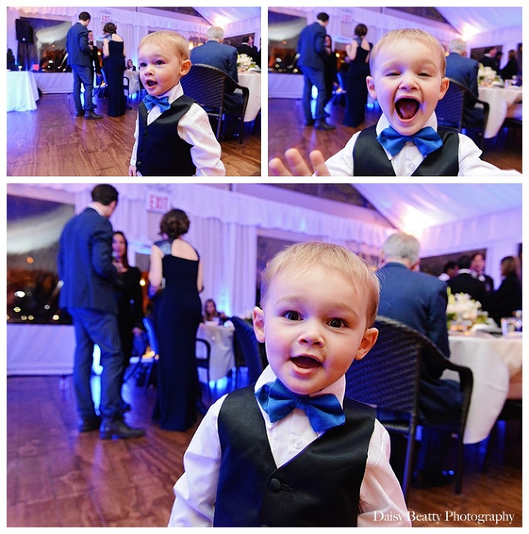 toddler in a tuxedo at an nyc wedding