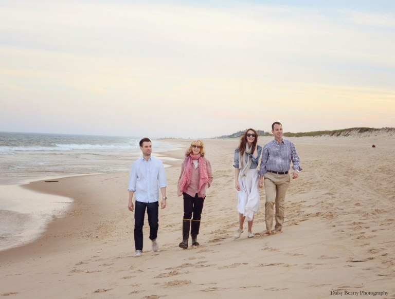professional family portrait on wiborg beach in east hampton ny