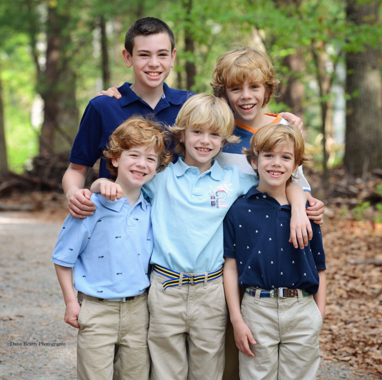 5 brothers - Professional family photographer NYC