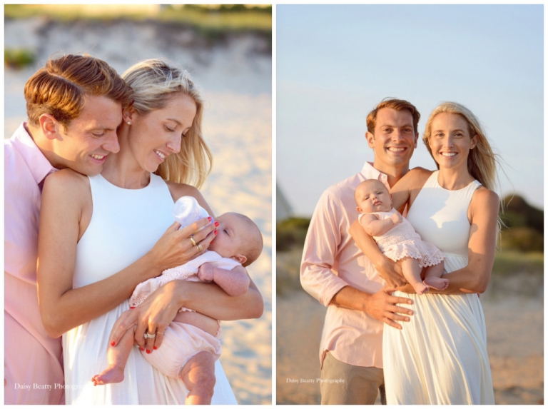 family portrait at sunset in east hampton ny by daisy beatty photography