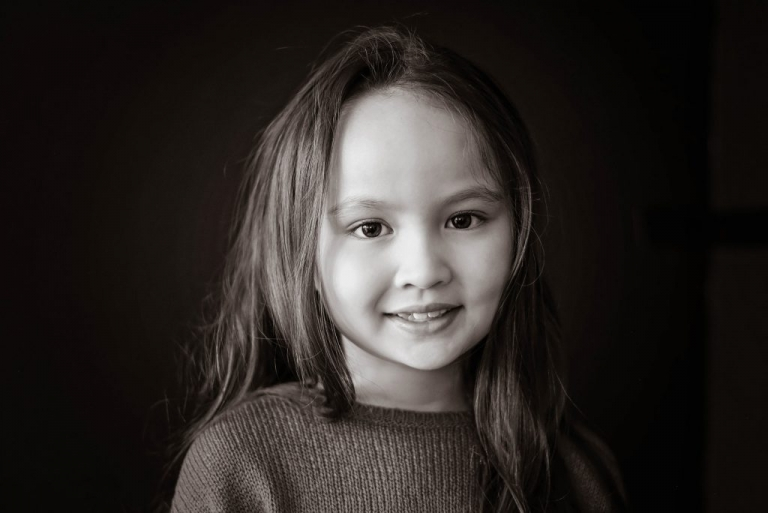 classic black and white child portrait nyc by daisy beatty photography