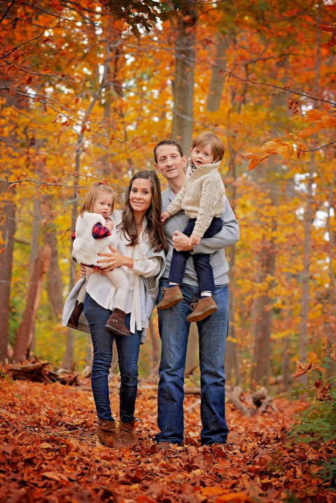 family portrait in fall by nyc family photographer nyc