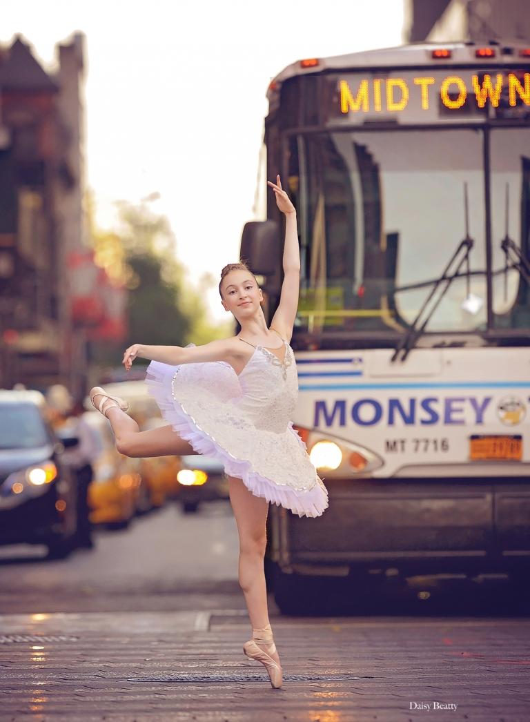 professional ballerina portrait in midtown Manhattan