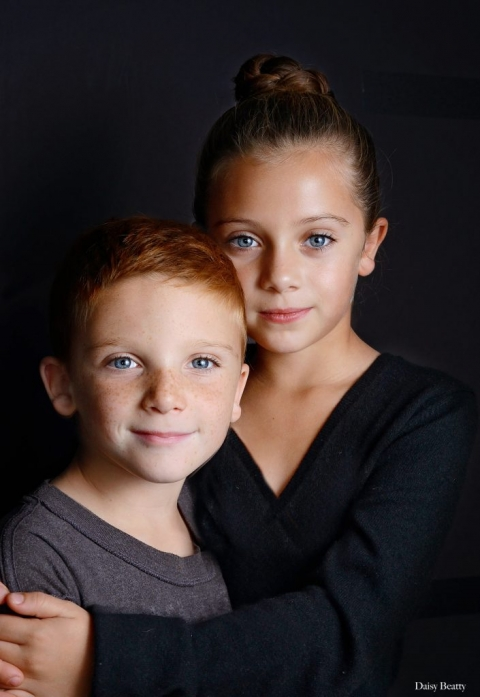 kids studio portraits NYC photography of siblings in manhattan by daisy beatty