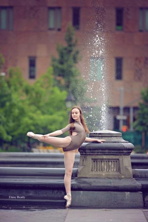 new york ballet photography in washington square park manhattan
