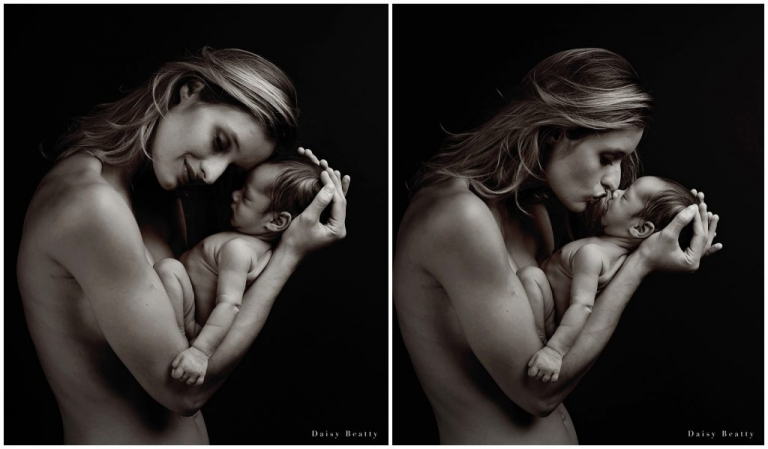 black and white baby photography in manhattan by daisy beatty