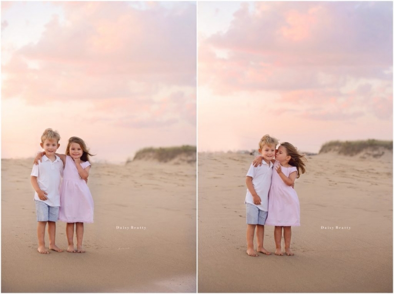 family photography at sunset at atlantic ave beach in amagansett east hampton ny by daisy beatty