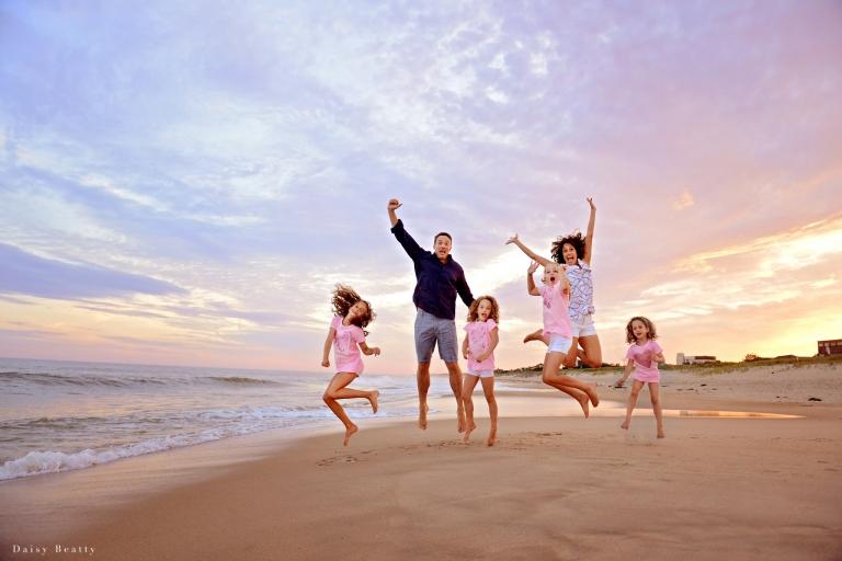family portrait at the beach in east hampton ny by hamptons photographer daisy beatty