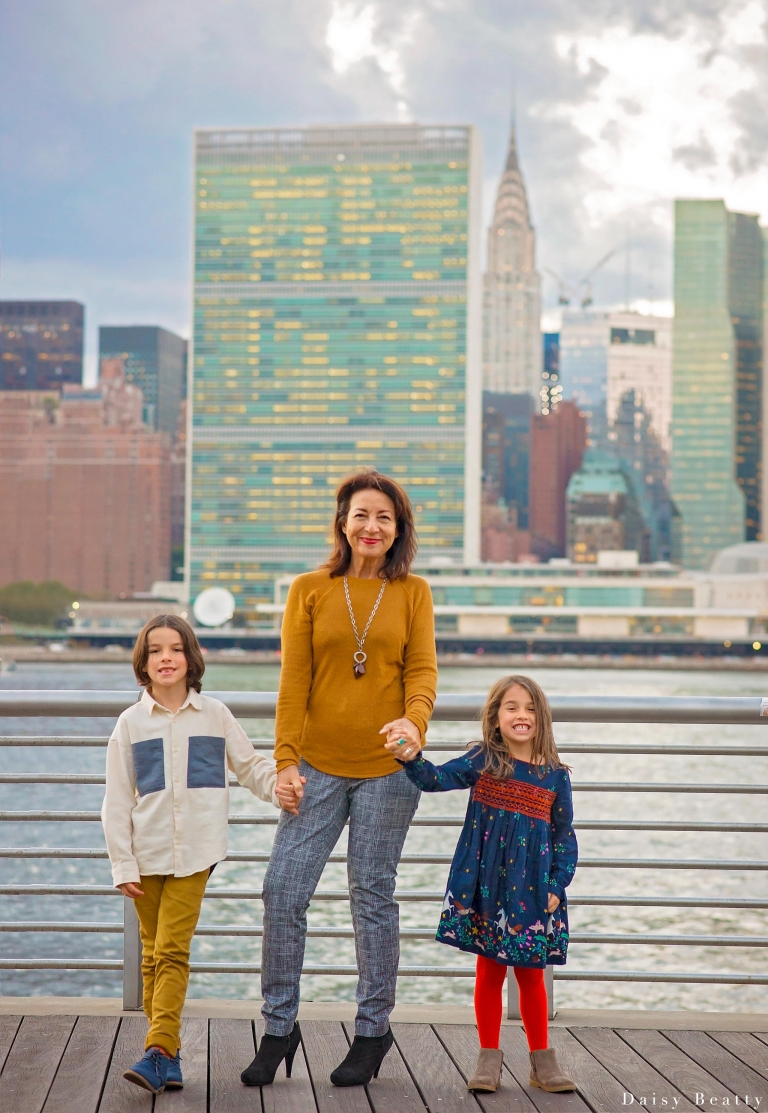 nyc family photos with buildings in the background by daisy beatty photography