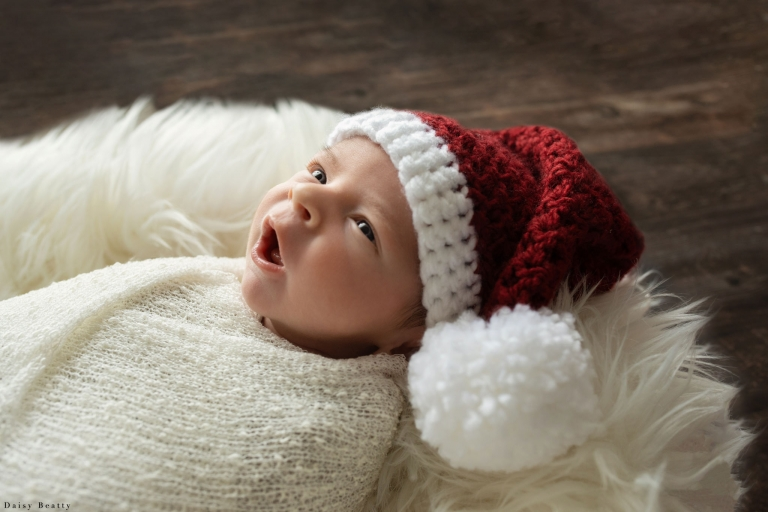 christmas newborn photography by daisy beatty photography