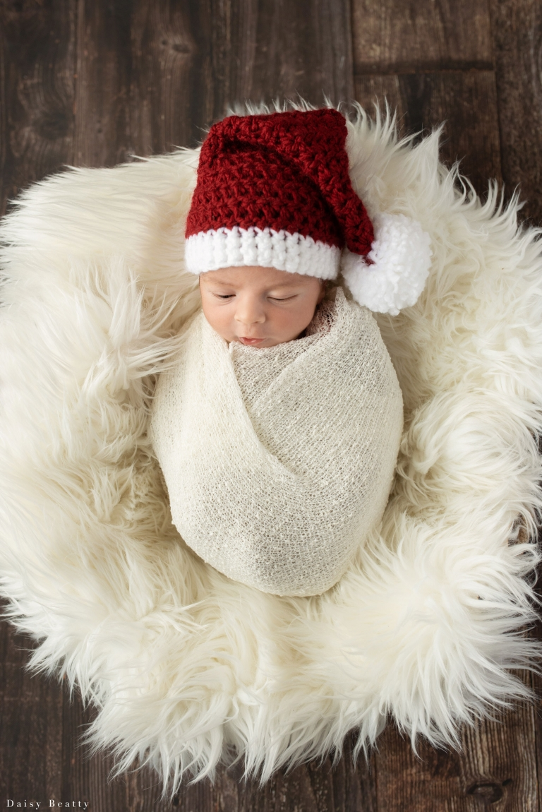 christmas newborn baby photography in nyc