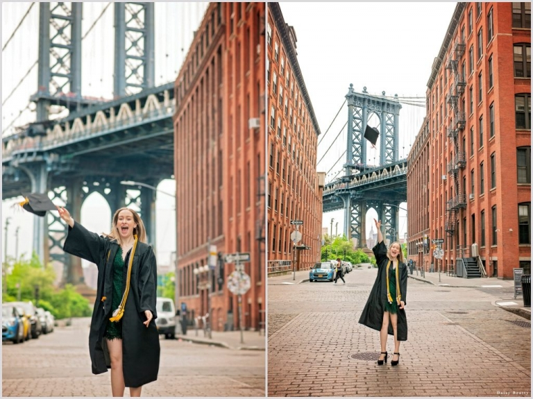 graduation photography in dumbo brooklyn by daisy beatty