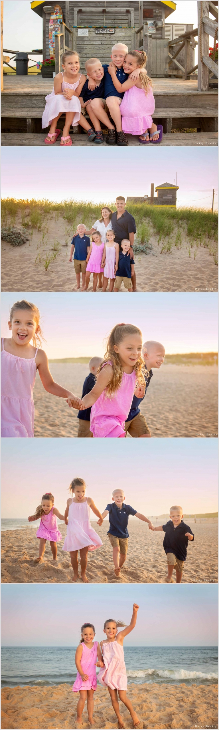family sunset beach photography In the Hamptons