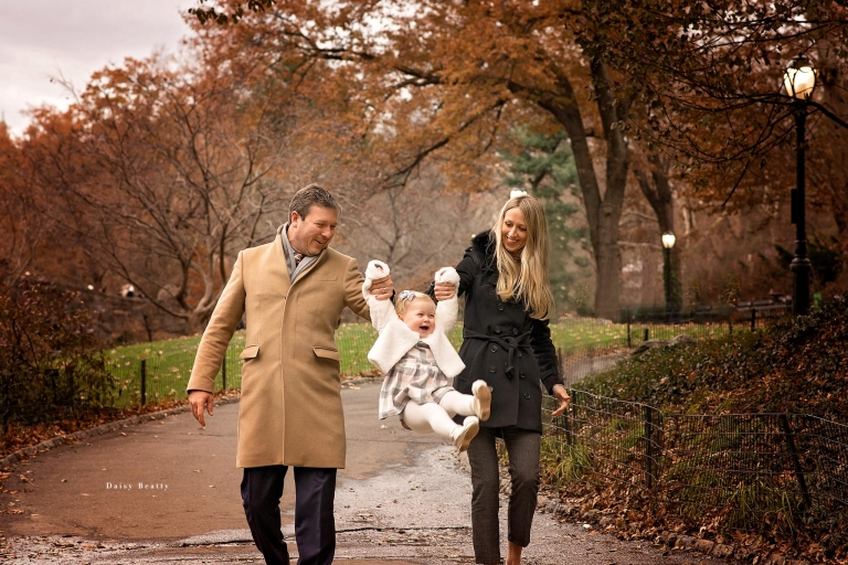 central park family session in fall