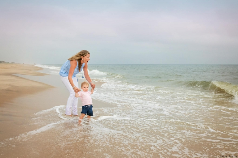 hamptons family beach shoot