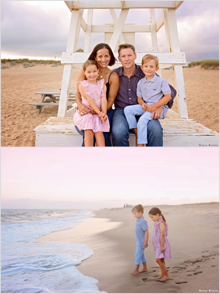 family beach photos in east hampton ny