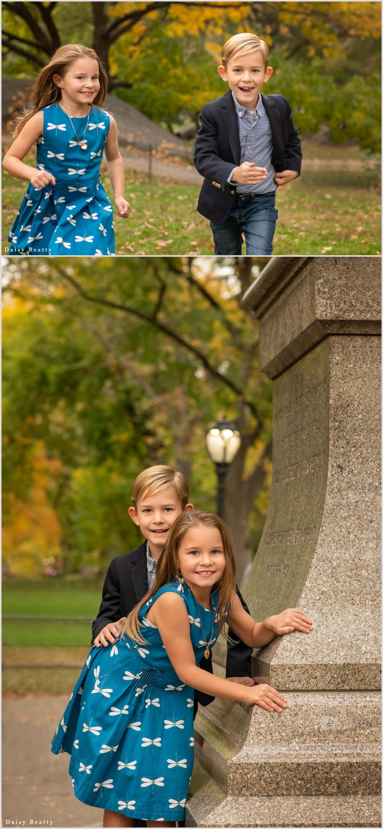 family photos with fall foliage in NYC